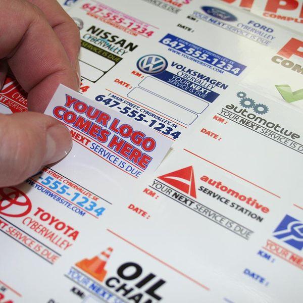 Oil Change Reminder Sticker