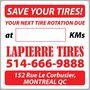 Tire Rotation Reminder Sticker