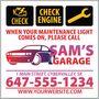 Maintenance Light Reminder Sticker