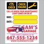 Oil Change an Maintenance Light Combo Reminder Sticker