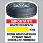 Stock Tire Retorque Reminder Sticker