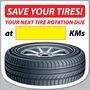 Stock Tire Rotation Reminder Sticker